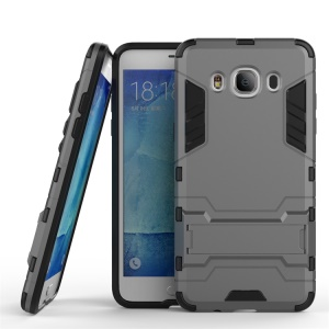 PC TPU Hybrid Shell for Samsung Galaxy J5 (2016) with Kickstand - Grey