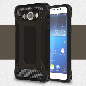 Cool Armor PC + TPU Hybrid Case for Samsung Galaxy J5 (2016) - Black