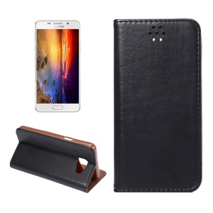 Crazy Horse Magnetic Leather Case for Samsung Galaxy A5 SM-A510F (2016) - Black