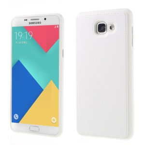 PU Leather Coated Gel TPU Coverfor Samsung Galaxy A9 Pro (2016) -     White