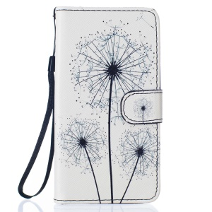 Patterned PU Leather Flip Case with Hand Strap for Samsung Galaxy J5 (2016) - Dandelions
