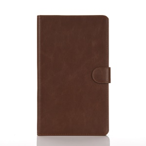 Crazy Horse PU Leather Tablet Shell for Samsung Galaxy Tab E 8.0 T375/T377 - Coffee