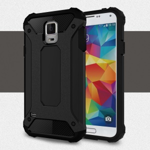 Armor PC TPU Back Case for Samsung Galaxy S5 G900 - Black
