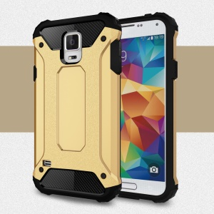 Armor PC TPU Protective Case for Samsung Galaxy S5 G900 - Gold