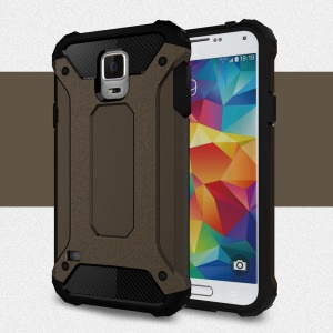 Armor PC TPU Combo Back Case for Samsung Galaxy S5 G900 - Bronze