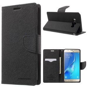 MERCURY GOOSPERY Fancy Diary Leather Case for Samsung Galaxy J7 (2016) - Black