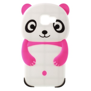 3D Cover Cute Panda in silicone per Samsung Galaxy A3 SM-A310F (2016) - Rose