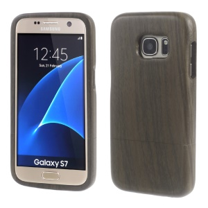 Natural Wood Protective Cover for Samsung Galaxy S7 G930 - Coffee