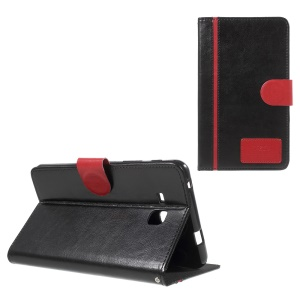 Crazy Horse Leather Stand Case for Samsung Galaxy Tab A 7.0 T280 T285 - Black