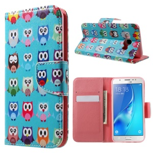Patterned Leather Case Protector for Samsung Galaxy J5 (2016) - Multiple Owls