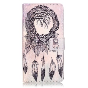 Embossed Leather Wallet Cover for ZTE Blade V7 - Dream Catcher