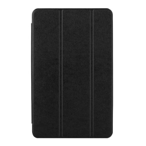 Silk Texture Tri-fold Stand Leather Case for Samsung Galaxy Tab A 7.0 T280 T285 - Black