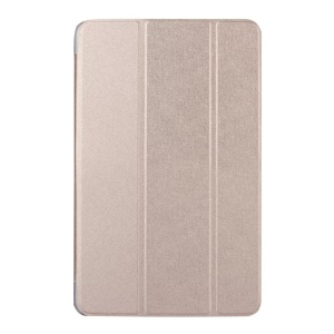 Silk Texture Leather Protective Cover for Samsung Galaxy Tab A 7.0 T280 T285 - Champagne