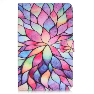 Patterned Smart Leather Case for Samsung Galaxy Tab E 8.0 T375 T377 T377P T377R - Colored Petals