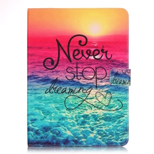 Patterned Smart Leather Case for Samsung Galaxy Tab S2 9.7 T810 - Never Stop Dreaming