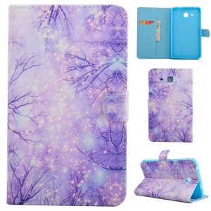 Smart Leather Wallet Shell for Samsung Galaxy Tab A 7.0 T280 T285 - Fluorescent Tree