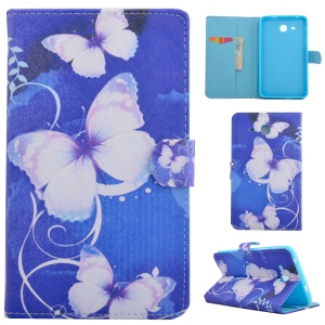 Fragrant PU Leather Smart Case for Samsung Galaxy Tab A 7.0 T280 T285 - Blue Butterflies