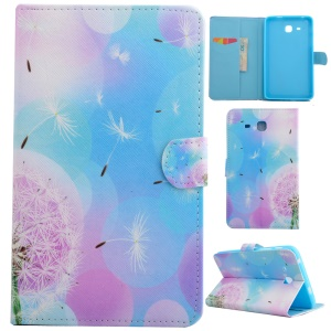 Fragrant PU Leather Smart Shell for Samsung Galaxy Tab A 7.0 T280 T285 - Colorized Circles & Flying Dandelion