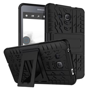 Tyre Pattern PC + TPU Hybrid Case for Samsung Galaxy Tab A 7.0 T280 T285 - Black