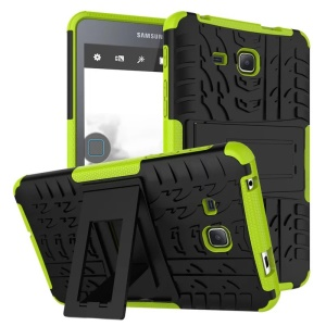 Tyre Pattern PC + TPU Protective Case for Samsung Galaxy Tab A 7.0 T280 T285 - Green