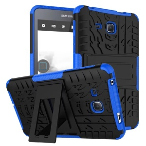 Tyre Pattern PC + TPU Kickstand Cover for Samsung Galaxy Tab A 7.0 T280 T285 - Blue