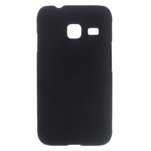 Rubberized Hard Plastic Case for Samsung Galaxy J1 mini - Black