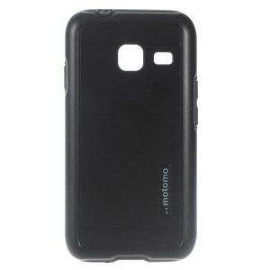 MOTOMO Brushed PC + TPU Hybrid Phone Cover for Samsung Galaxy J1 Nxt - Black