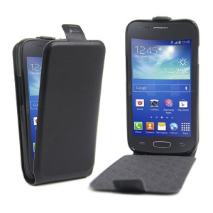 Vertical Flip Leather Case for Samsung Galaxy Ace NXT G313H / Ace 4 LTE SM-G313F - Black
