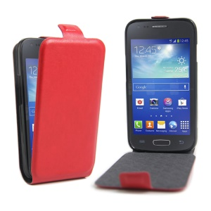 Up and Down Opening Leather Shell for Samsung Galaxy Ace NXT G313H / Ace 4 LTE SM-G313F - Red