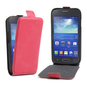 Up and Down Opening Leather Case for Samsung Galaxy Ace NXT G313H / Ace 4 LTE SM-G313F - Rose