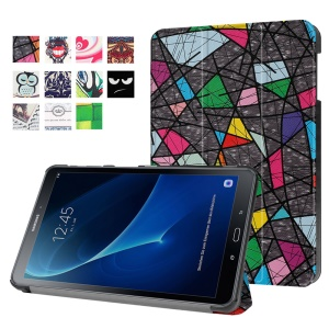 Patterned Leather Case for Samsung Galaxy Tab A 10.1 (2016) T580 T585 - Abstract Pattern