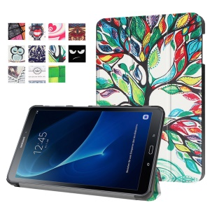 Patterned Leather Shell for Samsung Galaxy Tab A 10.1 (2016) T580 T585 - Flourishing Tree