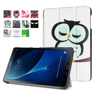 Patterned Leather Cover for Samsung Galaxy Tab A 10.1 (2016) T580 T585 - Dozing Owl