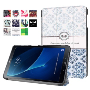 Patterned Leather Case for Samsung Galaxy Tab A 10.1 (2016) T580 T585 - Damask Pattern