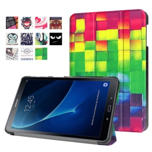 Patterned Leather Case for Samsung Galaxy Tab A 10.1 (2016) T580 T585 - 3D Visual Effect Checks