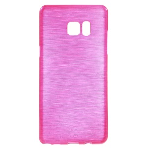 Brushed Inner Glossy Outer TPU Gel Case for Samsung Galaxy Note7 - Rose
