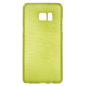Brushed Inner Glossy Outer TPU Phone Cover for Samsung Galaxy Note7 - Green