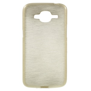 Brushed Inner Glossy Outer TPU Case for Samsung Galaxy J2 (2016) / J2 Pro - Gold
