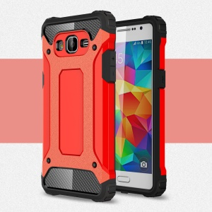 Armor Guard Plastic + TPU Hybrid Case Cover for Samsung Galaxy Grand Prime SM-G530 - Red