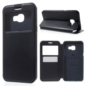 ROAR KOREA Noble Leather View Card Slot Cover for Samsung Galaxy C5 - Dark Blue