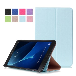 Sand-like Texture Leather Case Protector for Samsung Galaxy Tab A 10.1 (2016) - Baby Blue