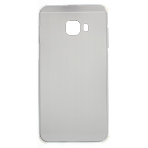 Sliding Metal Frame Plastic Case Cover for Samsung Galaxy C5 - Silver