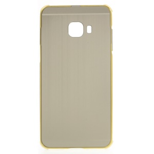 Sliding Metal Frame Plastic Protective Shell for Samsung Galaxy C5 - Gold
