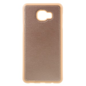 PU Leather Coated TPU Back Case for Samsung Galaxy C7 - Rose Gold