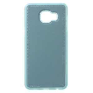 Leather Coated TPU Cover for Samsung Galaxy C5 - Baby Blue