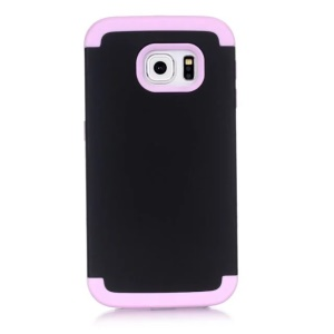 Hybrid Plastic + Silicone Back Shell for Samsung Galaxy S7 Edge G935 - Pink / Black