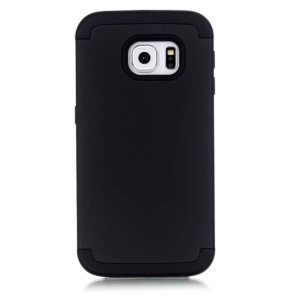 3-in-1 Silicone Plastic Hybrid Case for Samsung Galaxy S7 G930 - Black