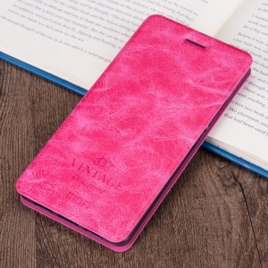 MOFI PU Leather Case with Stand Card Holder for Samsung Galaxy C7 - Rose