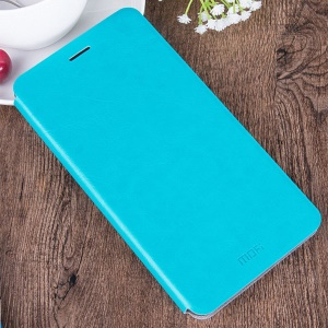 MOFI Rui Series Leather Stand Cover for Samsung Galaxy C7 - Blue