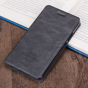 MOFI Leather Cover Stand Card Holder for Samsung Galaxy C5 - Black